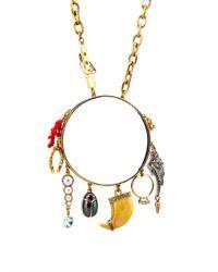 Lulu Frost | Metallic Traveller Multi-Charm Necklace | Lyst