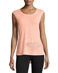 Balance Collection - Orange Snap Dragon Sleeveless Top - Lyst