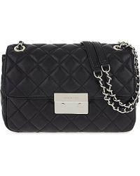MICHAEL Michael Kors | Black Sloan Large Quilted Leather Shoulder Bag | Lyst
