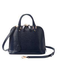 Aspinal   Blue Mini Hepburn Leather Bowling Handbag   Lyst