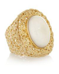 Isharya - Metallic Goldplated Resin Ring - Lyst