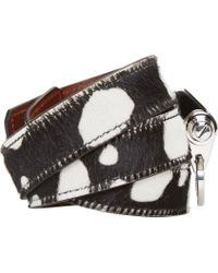Givenchy | Black Spotted Calf Hair Wrap Bracelet With Obsedia | Lyst