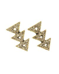 House of Harlow 1960 | Metallic Tessellation Earrings | Lyst