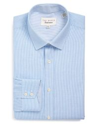 Ted Baker | Blue 'silsurf - Endurance' Trim Fit Dress Shirt for Men | Lyst