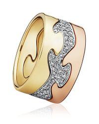 Georg Jensen | Metallic Fusion Ring Centre | Lyst