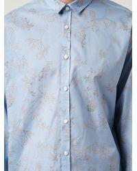 Haider Ackermann - Blue Floral Print Shirt for Men - Lyst