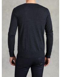 John Varvatos - Blue Superfine Merino Wool Sweater for Men - Lyst