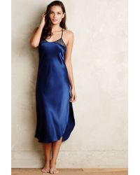 Anthropologie | Blue Sapphire Charmeuse Nightgown | Lyst