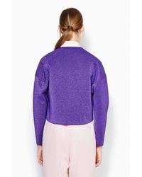 3.1 Phillip Lim - Purple Structured Poet Jacket - Lyst