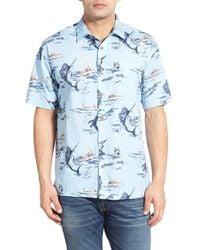 Jack O'neill - Purple 'fishin' Short Sleeve Print Sport Shirt - Lyst