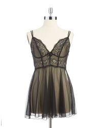 DKNY | Black Seductive Lights Chemise | Lyst