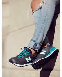 Free People - Blue New Balance Womens Metal Trainer - Lyst
