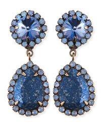 DANNIJO | Monaco Light Blue  Crystal Statement Earrings | Lyst