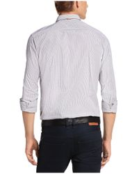 BOSS Orange | Blue Striped Slim-fit Casual Shirt In Cotton 'edipoe' for Men | Lyst