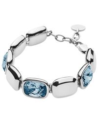Dyrberg/Kern | Blue Dyrberg/kern Swarovski Crystal Theatre Bracelet | Lyst
