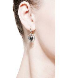Sylva & Cie | Metallic Rough Diamond Earrings | Lyst