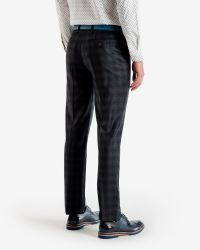 Ted Baker - Blue Checked Wool Trousers for Men - Lyst