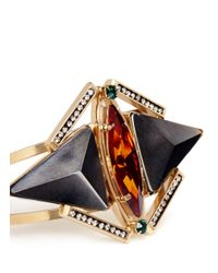 Iosselliani - Metallic Pyramid Crystal Cuff - Lyst
