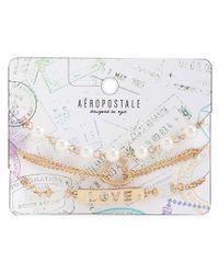 Aéropostale | Metallic Love Bracelet 3-pack | Lyst