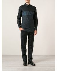 Dolce & Gabbana - Blue Paneled Shirt for Men - Lyst