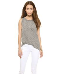 Current/Elliott - Gray The Muscle Tee - Heather Grey With Polka Star - Lyst
