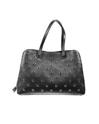 Valentino | Black Crystalcoated Leather Tote | Lyst