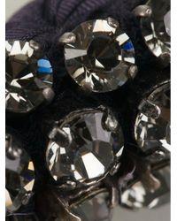 Lanvin | Blue Woven Crystal Embellished Necklace | Lyst