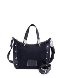 Marc By Marc Jacobs - Blue 'ligero Nano Ninja' Suede & Leather Crossbody Bag - Lyst