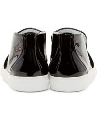Pierre Hardy - Black Patent Slip_on Sneakers for Men - Lyst
