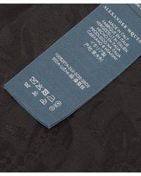 Alexander McQueen - Black Skull Silk Jacquard Pocket Square for Men - Lyst
