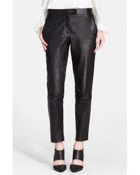 Tamara Mellon | Black Leather Cigarette Pants | Lyst