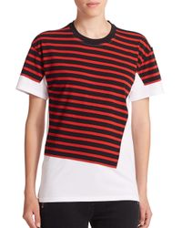 Marc By Marc Jacobs | Red Stripe-patch Surplus Tee | Lyst