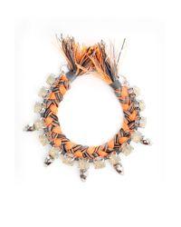 Joomi Lim | Orange Crystal, Skulls & Braid Brclt | Lyst