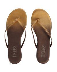 TKEES | Metallic Powders Leather Flip-Flops | Lyst