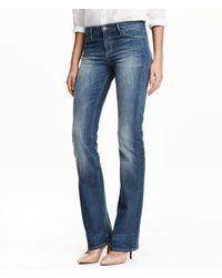 H&M | Blue Boot Cut Regular Jeans | Lyst
