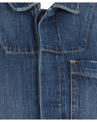 Current/Elliott - Blue Indigo Wash Jailbird Denim Boiler Suit - Lyst