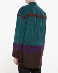 Kolor - Brown Colour Block Shirt for Men - Lyst
