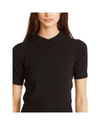 Polo Ralph Lauren - Black Cashmere Collared Sweater - Lyst