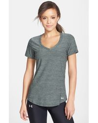 Under Armour - Gray 'perfect Pace' Tee - Lyst