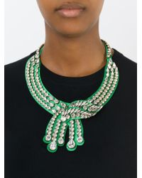 Shourouk - Green 'legend' Necklace - Lyst
