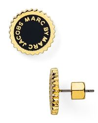 Marc By Marc Jacobs - Metallic Saw Tooth Enamel Disc Stud Earrings - Lyst