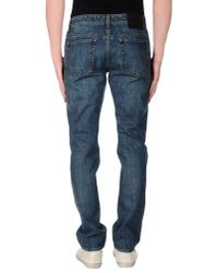 Umit Benan - Blue Denim Trousers for Men - Lyst