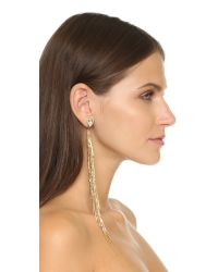 DANNIJO | Metallic Sasha Earrings - Clear/gold | Lyst