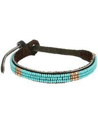 Chan Luu - Blue Adjust Beaded Pattern Single Bracelet - Lyst