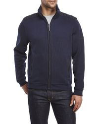 English Laundry - Blue Full-Zip Knit Jacket for Men - Lyst