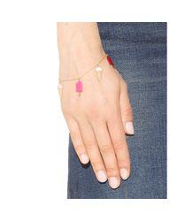Saint Laurent | Metallic Embellished Bracelet | Lyst
