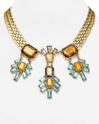 "Sam Edelman - Metallic Statement Necklace, 17"" - Lyst"