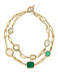 Stephen Dweck | Metallic Double Strand Necklace | Lyst