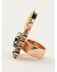 Mawi - Multicolor Embellished Chunky Ring - Lyst