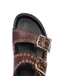 Isabel Marant - Purple Lenny Buckle Leather Sandals - Lyst